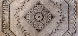 an entry way flooring tile mosiac